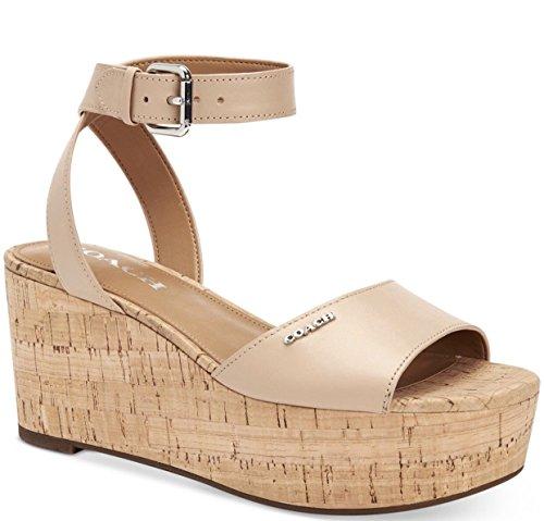 Coach Womens Becka Open Toe Casual Platform Sandals, Beechwood, Size (Coach Shoes Wedges)