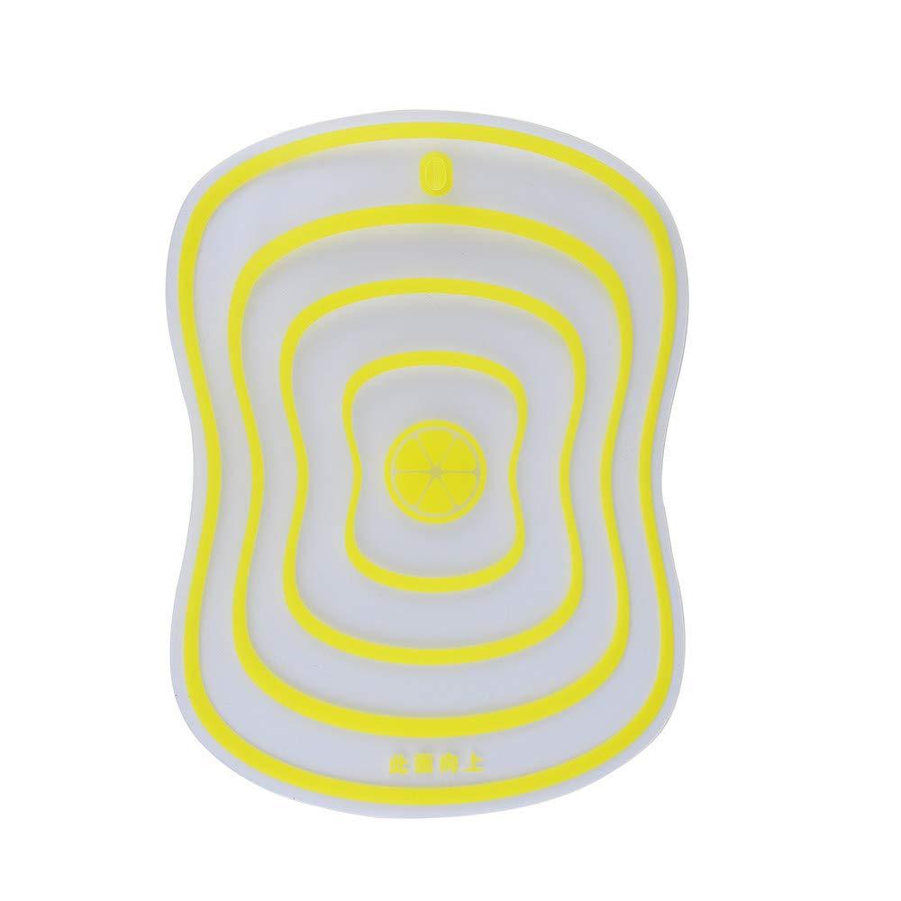 Connia Fat Scrub Category Cutting Board Non-slip Fruit Rubbing Panel Kitchen Tool (yellow, S)