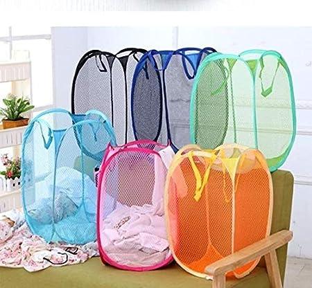 faltbar Pop-Up-Mesh-Netz W/äschekorb f/ür Spielzeug und Stoff Random Colour St@llion W/äschesack