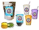 10+ Drinks Pineapple Boba Tea Kit: Tea Powder, Tapioca Pearls & Straws By Buddha Bubbles Boba