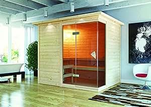 Sauna con Platina 3 40 mm, 236 x 184 x 208 cm KARIBU