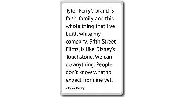 Tyler Perry - Imán para nevera con citas de Tyler Perry, Blanco ...
