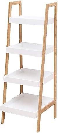Axdwfd Estantería de pie, estanterías nórdicas de escalera de piso Dormitorio de la sala Estante de almacenamiento de múltiples capas trapezoidal Estante simple Estante de almacenamiento de trapecio 3: Amazon.es: Hogar