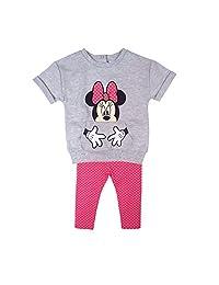 Disney Baby Girl's Minnie 2pc Legging Set, Grey, 3M