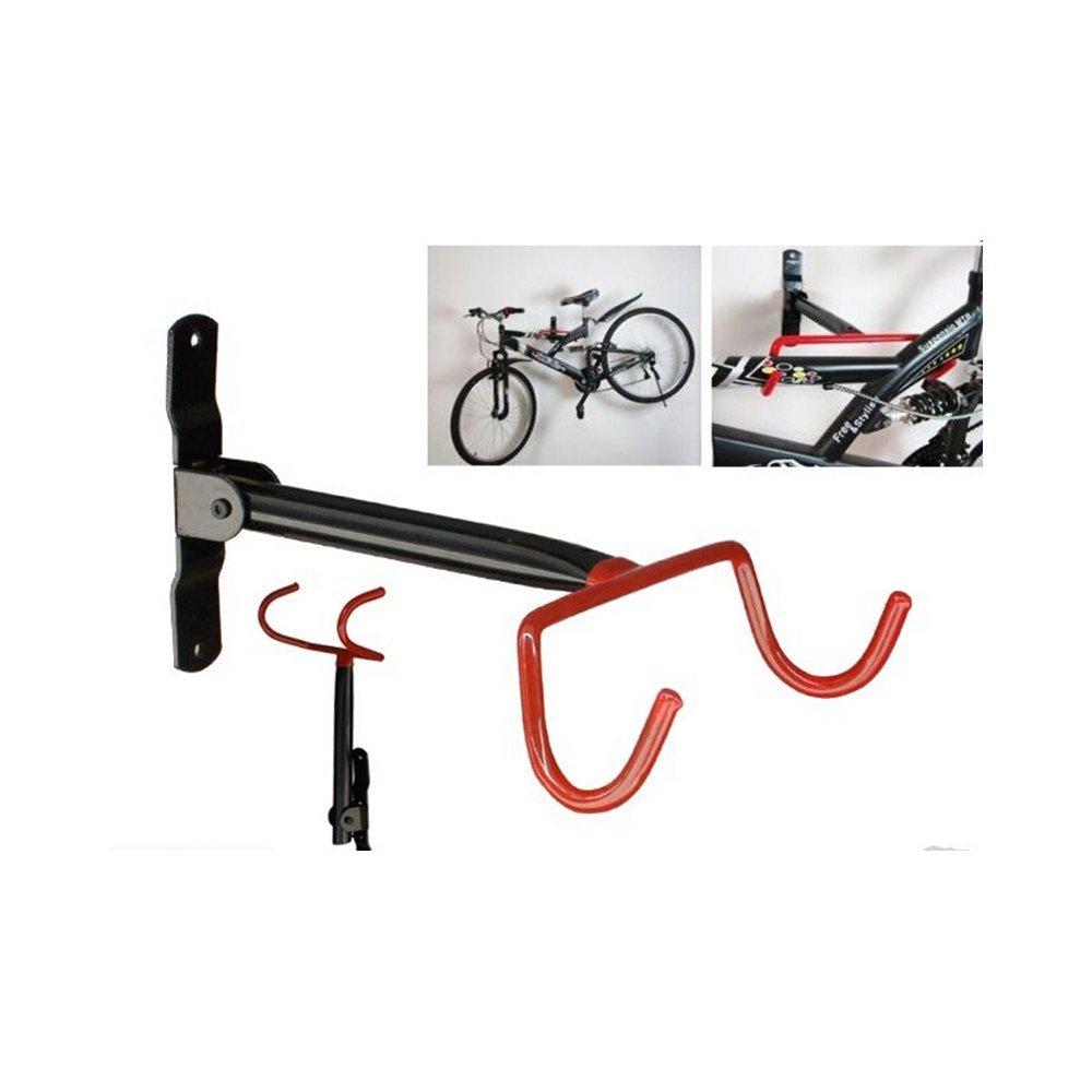 maltonyo17garaje de montaje en rack de almacenamiento de pared para bicicleta gancho colgador soporte con tornillos