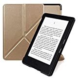 Electronics : 8th Generation Kindle Protective Cover Nouske Origami Case with Stand and The Thinnest and Ultra Lightest Smart Shell Cover with Magnetic Auto Wake/Sleepfor Amazon 2016 All-New Kindle E-reader Gold