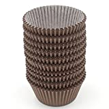 Z ZICOME 300 Count Paper Cupcake Baking Cups Liners, Standard Size, Chocolate Brown