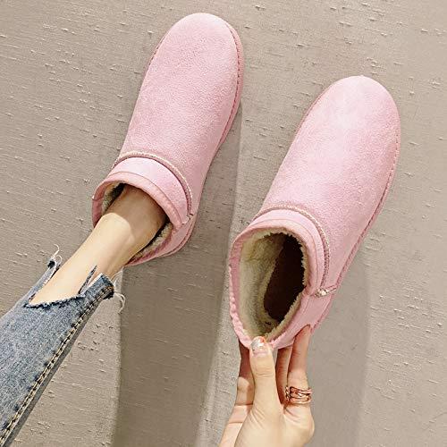 Grueso El Cálido Invierno Exteriores Tubo Nieve Botas Antideslizante Algodón Ymfie Zapatos B Para De Corto Botas BFnq1n4A