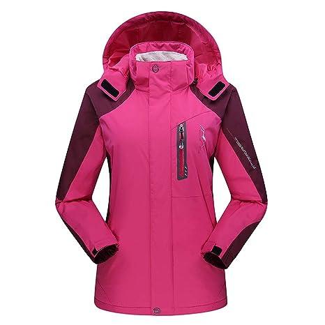 Chaqueta de esquí para Mujer, Impermeable de montaña Espesar ...