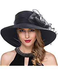 9e814f87c82 Women Kentucky Derby Church Dress Cloche Hat Fascinator Floral Tea Party  Wedding Bucket Hat S052