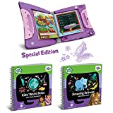 LeapFrog LeapStart Interactive Learning System for Kindergarten & 1st Grade, Exclusive Purple + Level 3 LeapStart Activity Book Bundle, Kids Educational Books, Learn Basic Concepts, Kids Gift Set