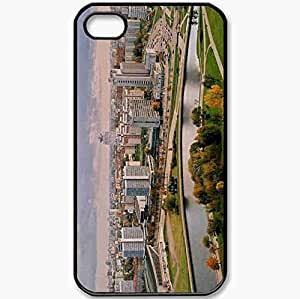 Protective Case Back Cover For iPhone 4 4S Case Park Minsk Doma Black