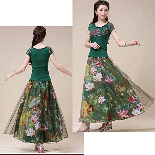Color longue Jupe Blancho de bohme Jupe Belle Femme Jupe pIxT8q
