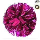 PUZINE 13'' Cheering Squad Spirited Fun Cheerleading Kit Cheer Poms Pack of 2(100g) (Pink)