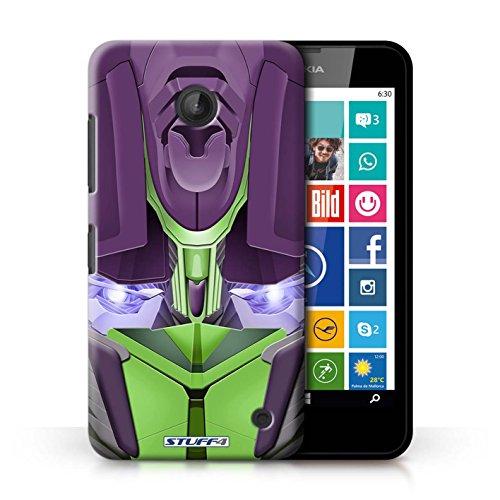 Kobalt® Imprimé Etui / Coque pour Nokia Lumia 635 / Opta-Bot Vert conception / Série Robots