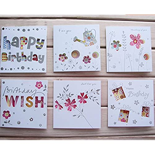 Assorted all occasion greeting cards 24 cards, Thinking for you, Just for you, Thank you & Birthday greeting Sales