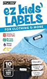 Supiritiv All Purpose Ez Kids' Clothing Labels, Stick-On No-Iron, Writable, Washer & Dryer Safe (10)