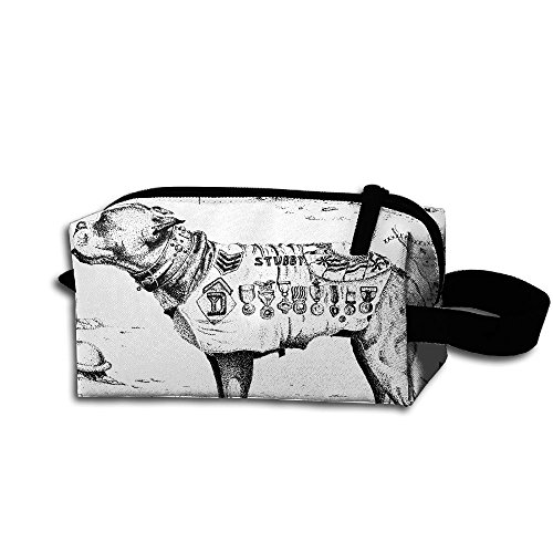Create Magic - French Bulldog Purse Or Makeup Bag Waterproof Multi-purpose Storage Tote Tools Pouches Cosmetic Bags With Zipper And Hanging (Hanging French Purse)