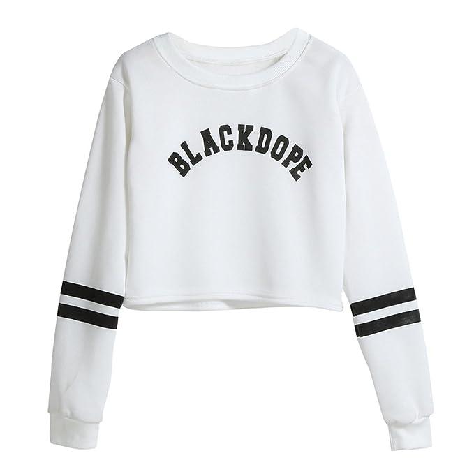 Sudaderas Tumblr Chica - BLACKDOPE - Adolescentes Niña Camiseta De Manga Larga Blusa Otoño e Invierno Ropa para Mujer: Amazon.es: Ropa y accesorios