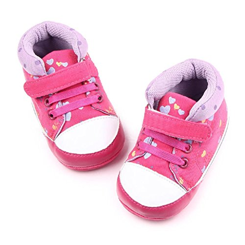 Auxma Bebé NiñAs Zapatos de lona Sole suave zapatos de bebé