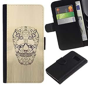All Phone Most Case / Oferta Especial Cáscara Funda de cuero Monedero Cubierta de proteccion Caso / Wallet Case for Sony Xperia Z3 Compact // Skull Floral Butterfly Spring Death