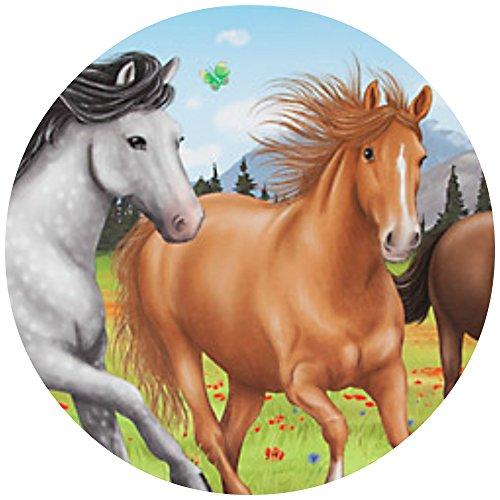 Tortenaufleger Tortenfoto Aufleger Foto Bild Horses Dream Pferd (6) rund ca. 20 cm *NEU*OVP*