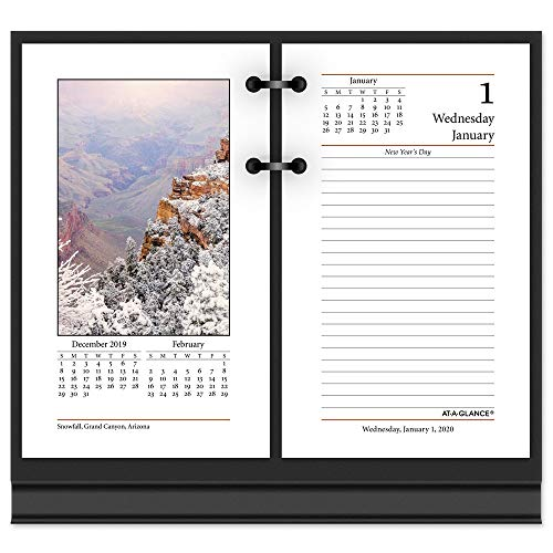 AT-A-GLANCE 2020 Desk Calendar Refill, 3-1/2