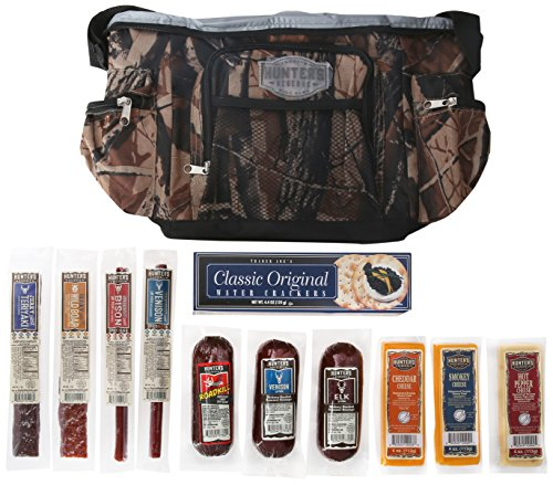 "Hunters Reserve ""Wild Game"" Camo Cooler Bag with Assorted Premium Meats & Cheeses, 50 Ounce by Hunters Reserve"
