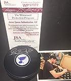 Alexander Steen St Louis Blues Autographed Signed Puck JSA Witness COA