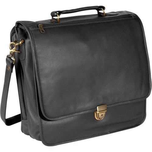 Royce Leather Large Laptop Organizer Briefcase – Black, Bags Central