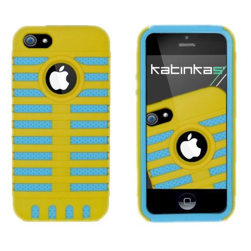 Katinkas Grid Dual Hybrid Case für Apple Apple iPhone 5 gelb/turquoise