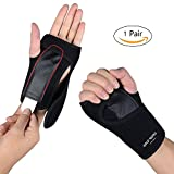 Wrist Brace ,One Pair Removable Wrist hand Splint Support Training Protector Wrist Wraps for Night Sleep ,provide support for Carpal Tunnel, Injuries,Wrist Pain, Sprain, Gym Fitness Bands,
