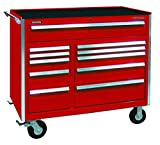 Kennedy Manufacturing 46003R 46'' 11-Drawer Benchmark Double-Bank Roller Cabinet, Industrial Red