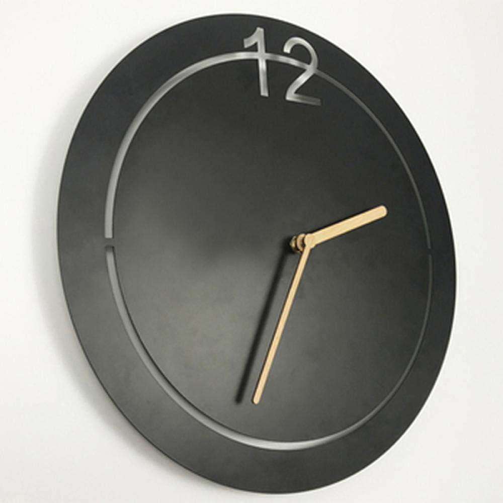 NA Reloj de Pared Reloj De Pared De Metal Creativo Diseño Moderno Personalidad Nórdica 3D Colgante De Pared Hierro Arte Relojes Reloj De Pared Decoración