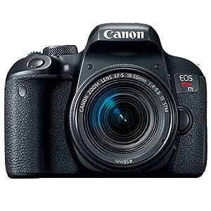 Canon EOS Rebel T7i Digital SLR Camera + Canon EF-S 18-55mm f/4-5.6 IS STM Lens + Canon EOS Shoulder Bag 100ES (Black) + SanDisk Ultra SDXC 64GB 80MB/S Class 10 Flash Memory Card + Deluxe Canon Bundle