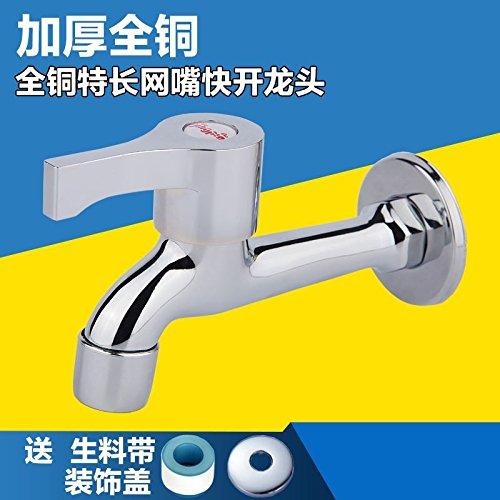 ETERNAL QUALITY Badezimmer Waschbecken Wasserhahn Messing Hahn Waschraum Mischer Mischbatterie Die Filter Extension4-plattiert Badezimmerschrank Tippen, Waschmaschöne, An