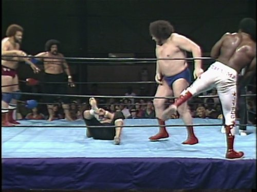 Big Match - Mid-South Wrestling January 1982  Andre the Giant, Dusty Rhodes & Junkyard Dog Vs. Afa, Sika & Big Cat Ernie Ladd
