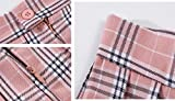 Women`s Floral Flared Tartan Check Pleated