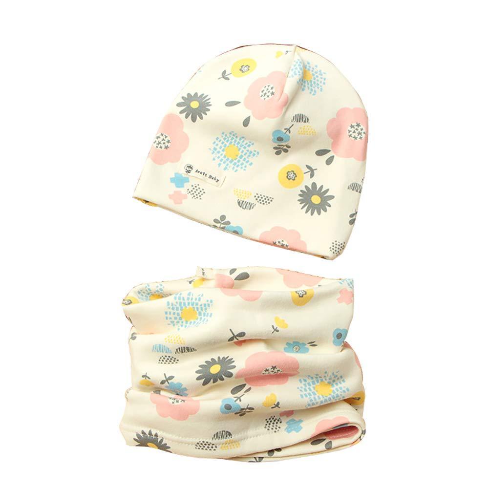 1 Set Cappello e Sciarpa del Cotone per Ragazzi e ragazze 02f421300bf2
