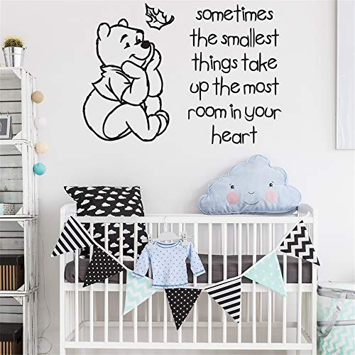 Quotes Art Decals Vinyl Removable Wall Stickers Positive Inspiring Sayings Home Decor Winnie The Pooh Quote for Nursery Kids Bedroom Living Room]()
