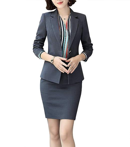 Amazon.com: LISUEYNE - Blazers de dos piezas para mujer ...