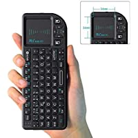 Rii X1 Mini Teclado inalámbrico 2.4GHz con Ratón Táctil, Control Remoto.Mini Wireless Keyboard - Compatible con Smart TV, Mini PC Android, Playstation, Xbox, HTPC, PC, Raspberry Pi (Layout español)