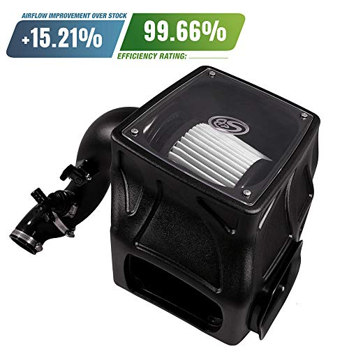S&B Filters 75-5087D Cold Air Intake for 2014-2018 Dodge Ram 2500/3500 6.4L HEMI (Dry Extendable Filter)