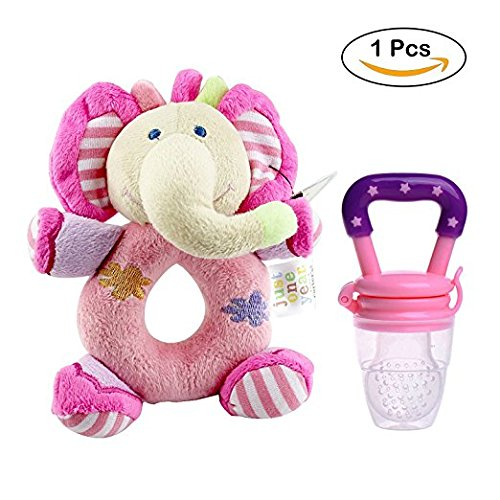 Baby Fruit Feeder Pacifier - Fresh Food Nibble Weaning Tool Baby Feeding Tool Fresh Safe Food Feeder Nibbler Safety (Pink)