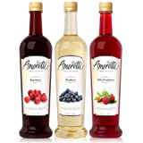 Amoretti Premium Berry Syrups 750ml 3 Pack