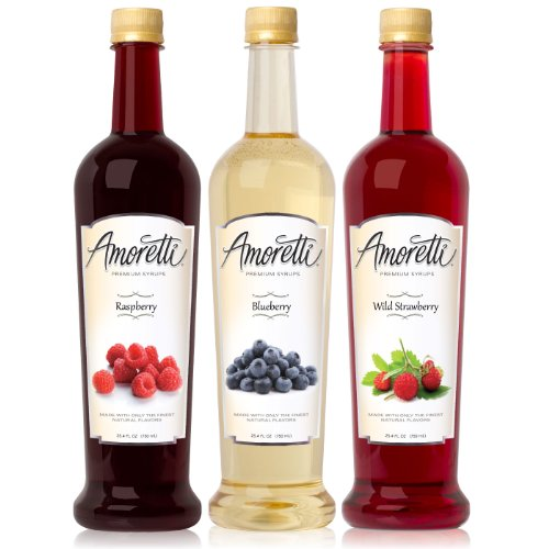 Amoretti Premium Berry Syrups 750ml 3 Pack