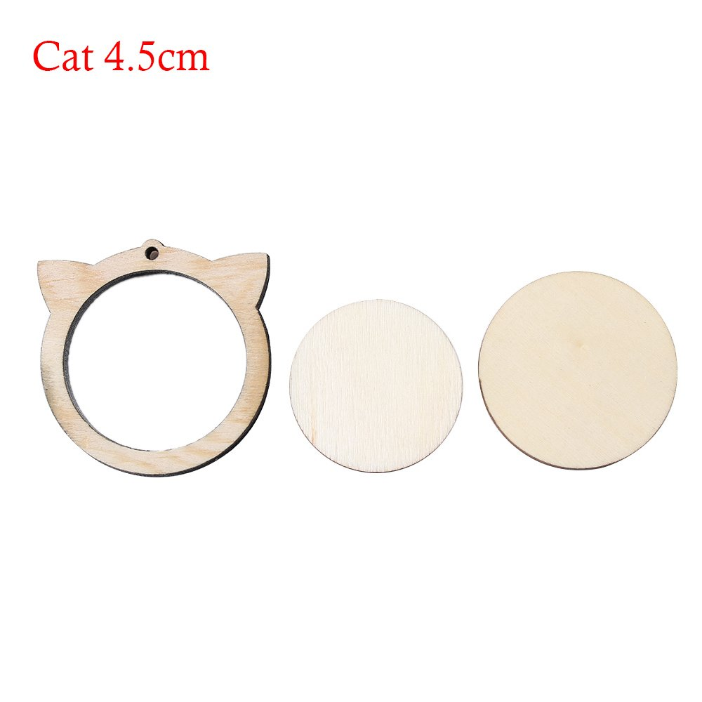 Mini Embroidery Hoop Wooden Embroidery Frame Small Hand Stitching Hoop Cross Framing Hoop DIY Crafts Gift Earring (Square 3x3cm) Genenic