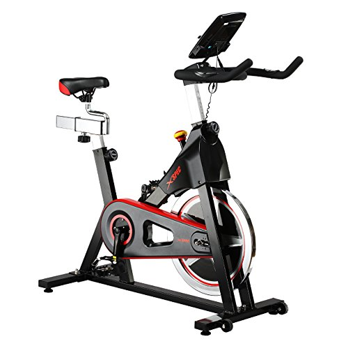 Xspec Pro Stationary Upright Exercise Cycling Bike, Heart Pulse Sensors, Adjustable Friction Resistance, 3-Piece Crank, Multi-Function Monitor – DiZiSports Store