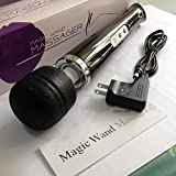 10 Speed Cordless Rechargeable Magic Wand Personal Back Massager A++ Motor Black