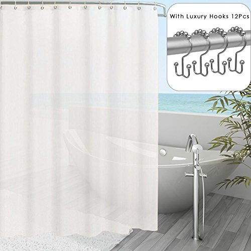 Shower Curtain Liner Transparent Mildew Resistant Anti-Bacterial PEVA, 72